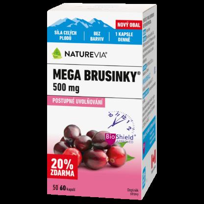 MEGA Brusinky 500mg 50+10 kapslí