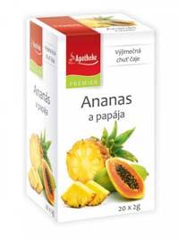 Apotheke Ananas a papája porcovaný čaj