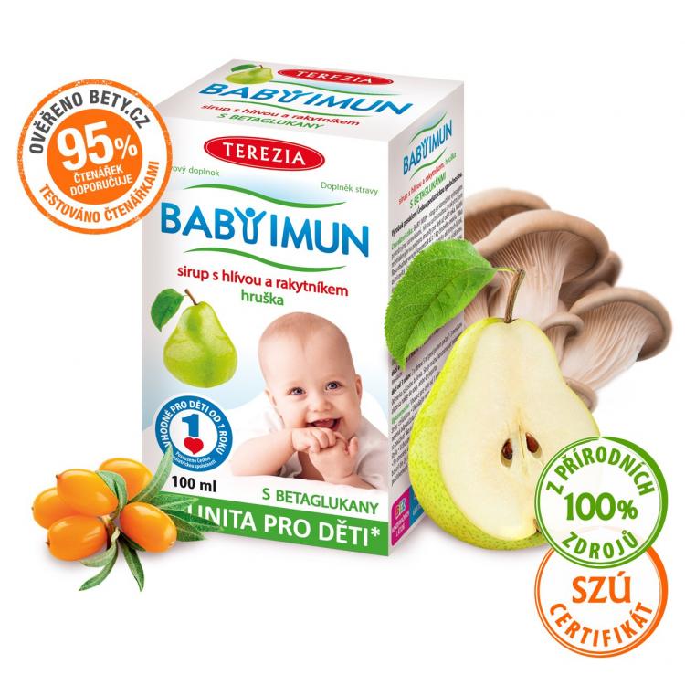 BABY IMUN sirup s hlívou a rakytníkem - hruška 100 ml