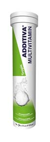 ADDITIVA Multivitamin Tropic 20 šumivých tablet