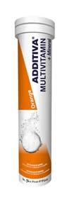 ADDITIVA Multivitamin+minerály pomeranč 20 šumivých tablet