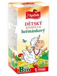 Apotheke Dětský BIO Heřmánkový porcovaný čaj