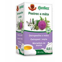 Herbex Ostropestřec a máta porcovaný čaj