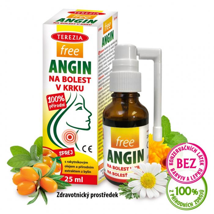 freeANGIN sprej na bolest v krku 25 ml