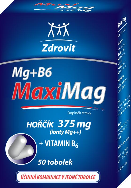 Zdrovit Maximag hořčík 375mg + B6 50 tablet