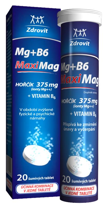 Zdrovit MaxMag Hořčík 375 mg+B6 šumivé tbl.eff.20