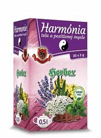 Herbex Harmonie těla a pozitivní mysli porcovaný čaj