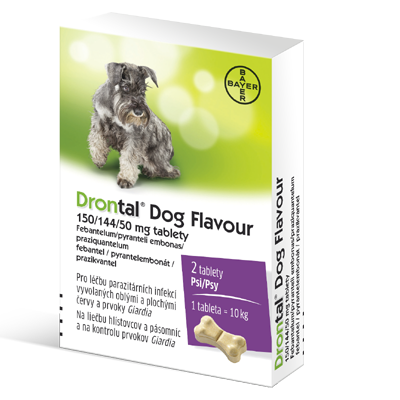 Drontal Dog Flavour pro psy 2 tablety