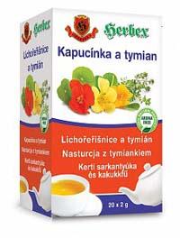 Herbex Lichořeřišnice a tymián porcovaný čaj