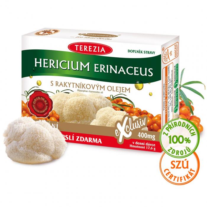 Hericium erinaceus s rakytníkovým olejem 60 kapslí