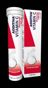 ADDITIVA Vitamin C Pomeranč 20 šumivých tablet